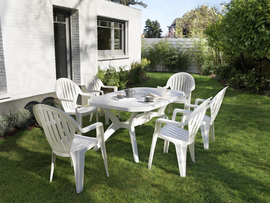 Table Et Chaises De Jardin Grosfillex En Vente Sur Le Site En