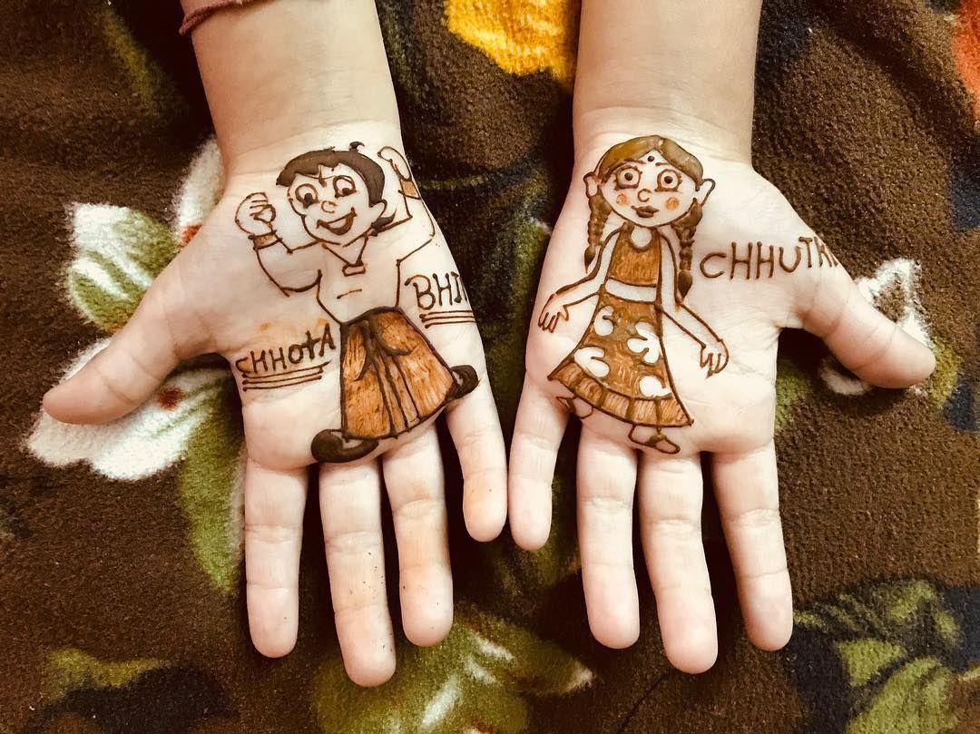 chhota bheem mehndi design