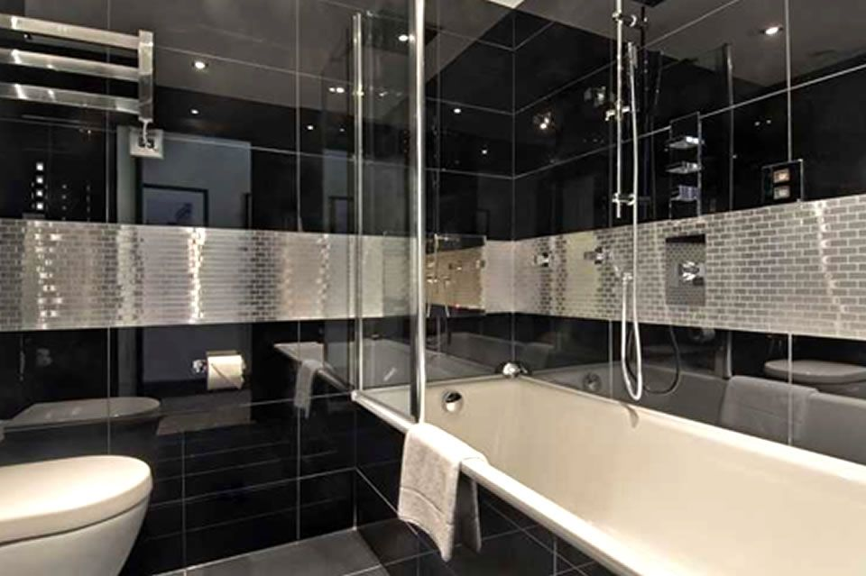 Luxury boutique hotel bathroom hospitality interior design of the mountcalm london uk design - Bathroom design london ...