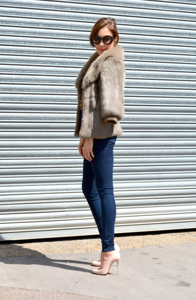 BLOGGED rabbit fur and skinny jeans