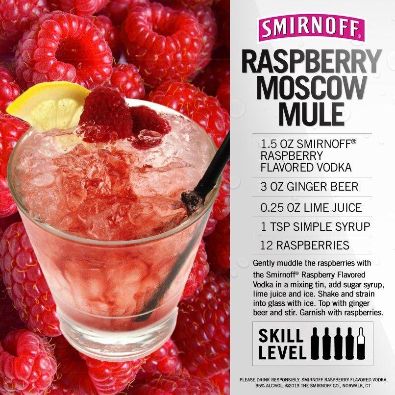 Smirnoff Raspberry Moscow Mule Vodka
