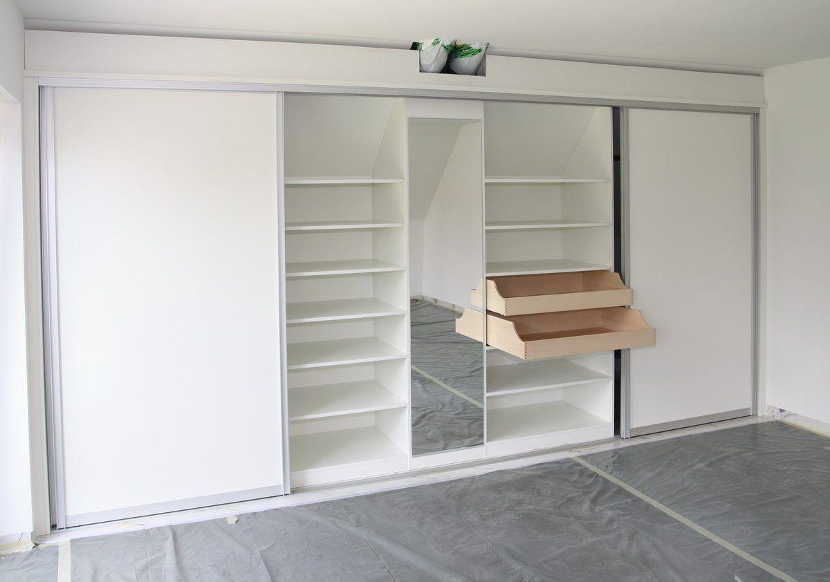 begehbarer Kleiderschrank unter steiler Dachschraege | Schlafzimmer ...