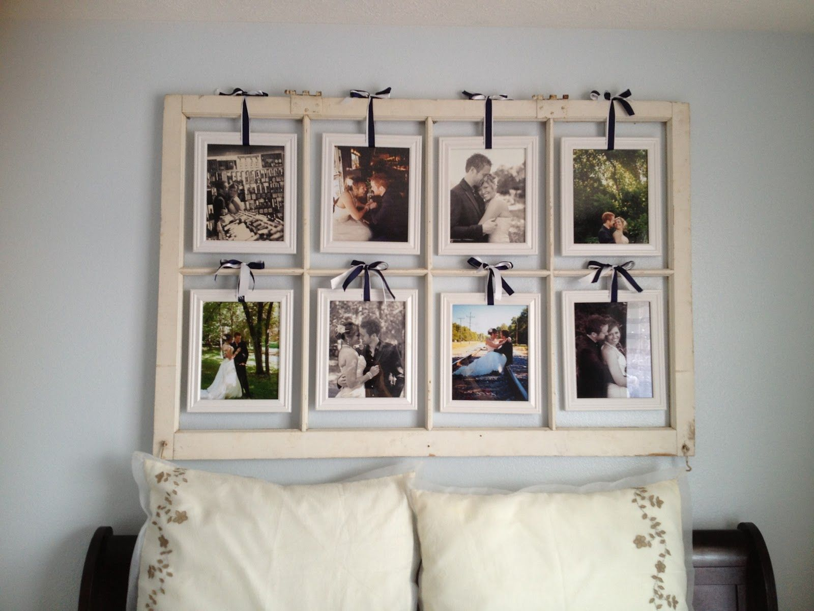 refurbished old window frames window frame picture display nesting on a budget