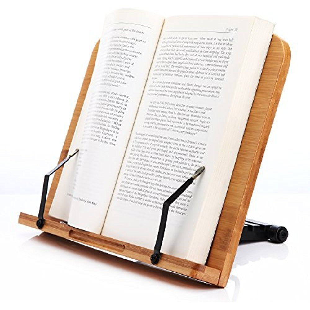 Book Holder Stand Readaeer Wooden Bamboo Reading Book Rest Cookbook For Desk Book Holder Stand Book Holders Recipe Book Holders