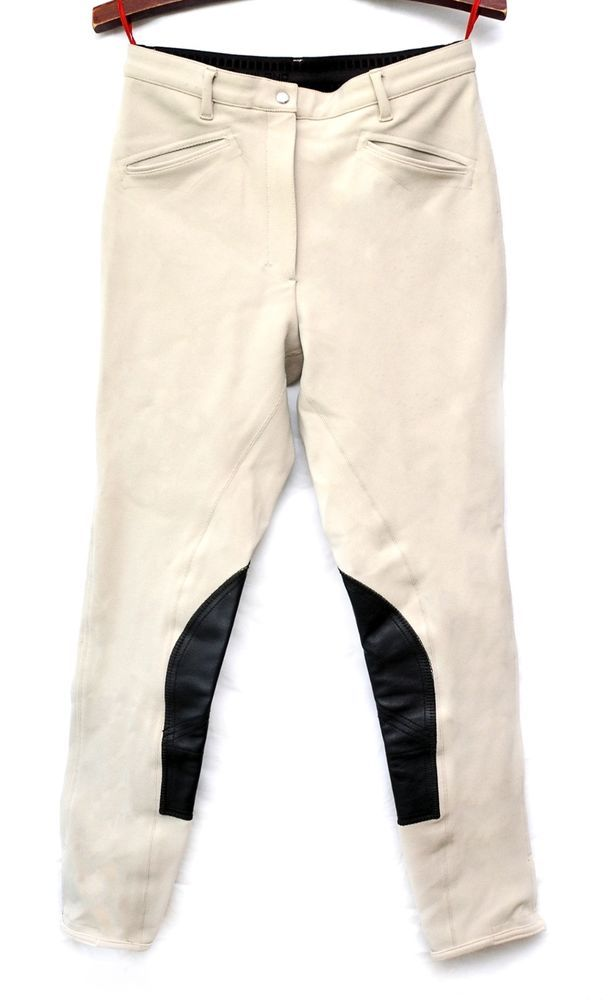 Auth Prada Women's Riding Pants - Slim - Beige / Size US 4 / IT 40 #PRADA #Riding