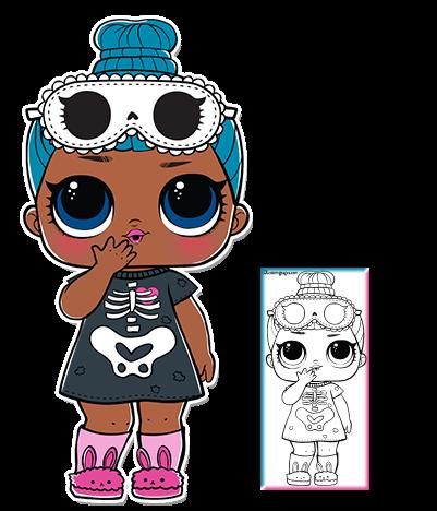 Sleepy Bones Series 3 L O L Surprise Doll Coloring Page Lol Dolls Dolls Lol