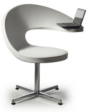 Chaise Avec Repose Ordinateur Integre N T Designer Martin Ballendat Ce Fauteuil Au Des Chaise De Bureau Design Fauteuil Bureau Design Relooking De Mobilier