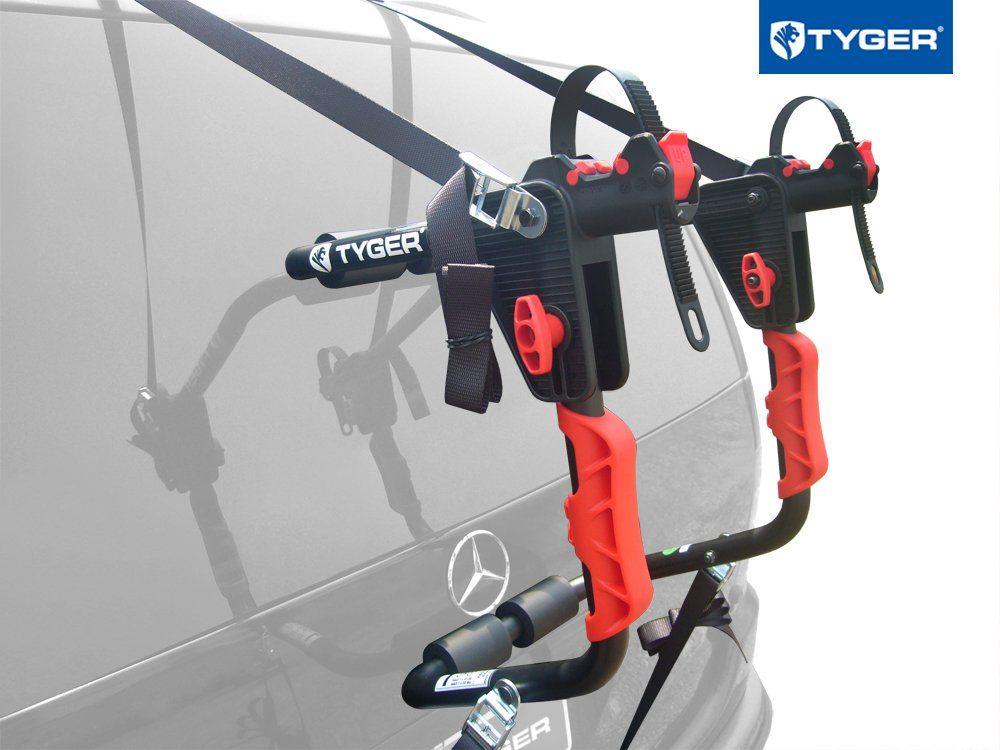 3dc54bc73c8 TYGER Deluxe Black 1-Bike Trunk Mount Bicycle Carrier Rack. (Fits most  Sedans Hatchbacks Minivans and SUVs.)