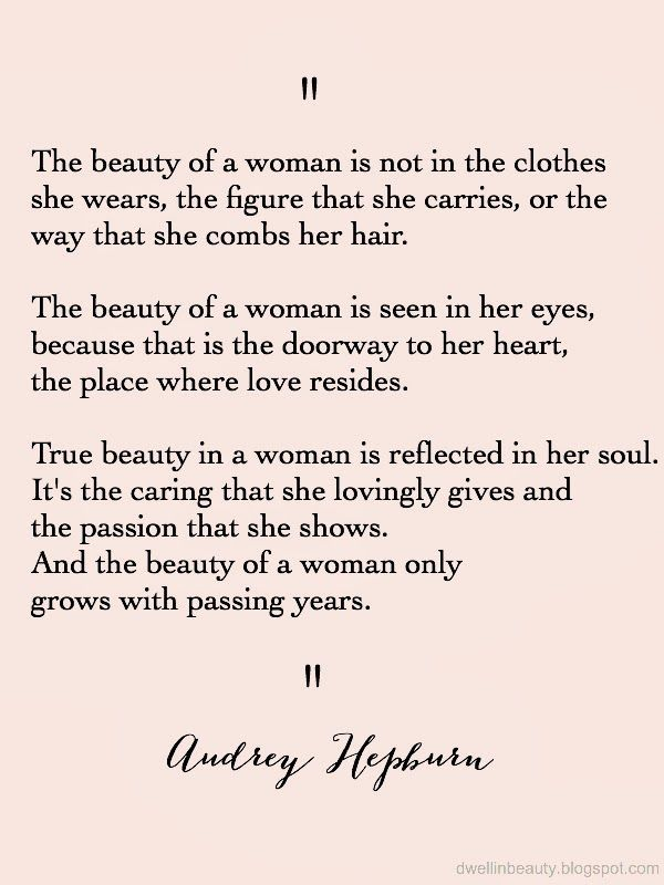 "Quotes About Beautiful Women Dwell In Beauty Monday Musings  Quote Of The Week ""beauty Of A ."