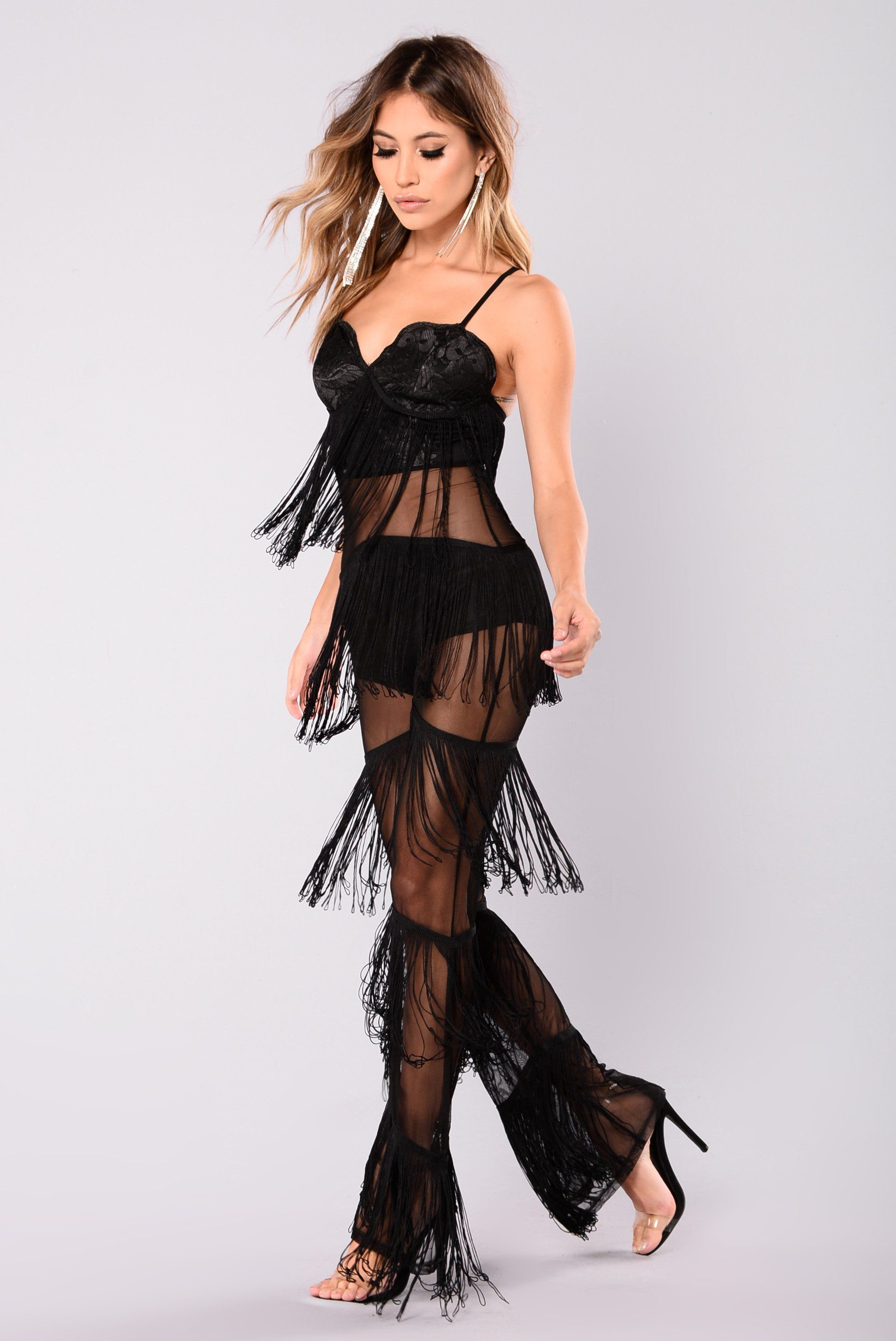 7974a4fae792 Main Stage Fringe Jumpsuit - Black