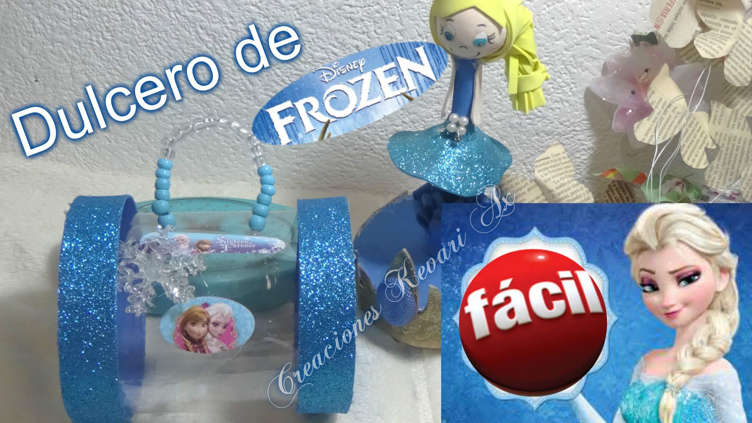 Dulcero De Elsa De Frozen Material Reciclado Botellas Plasticas