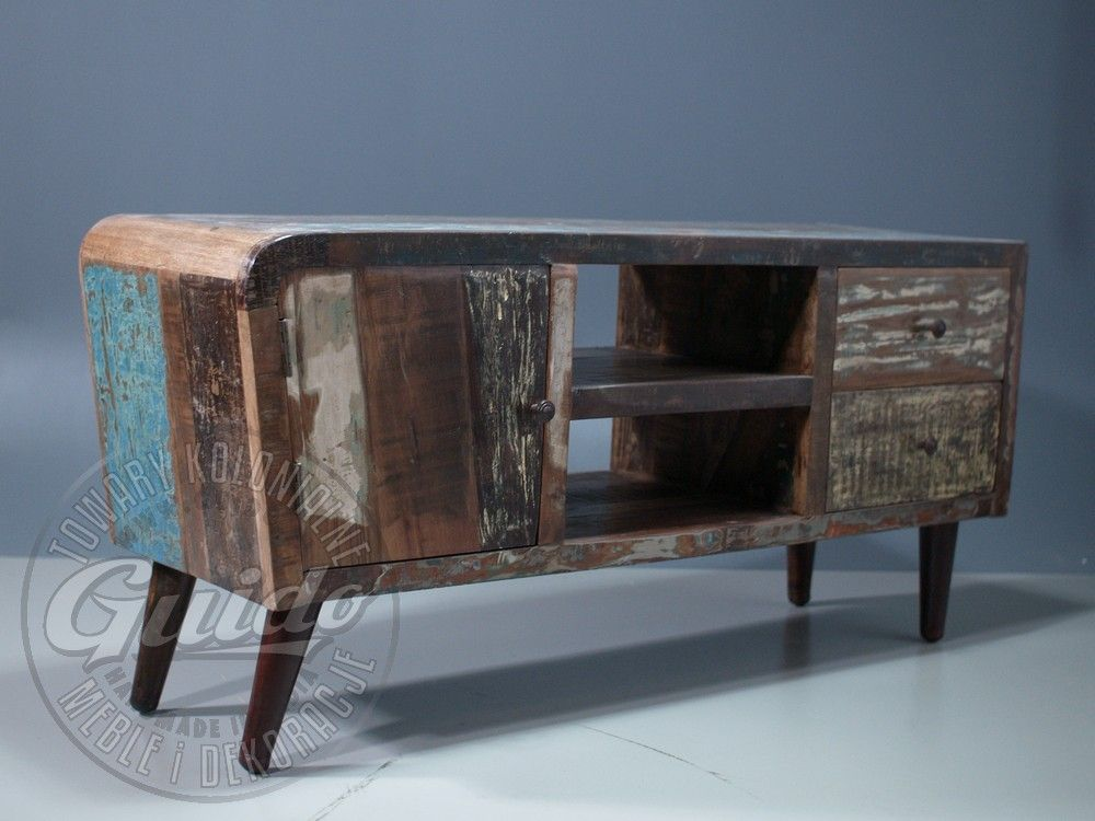 Reclaimed wooden sideboard, retro vintage, industrial loft style
