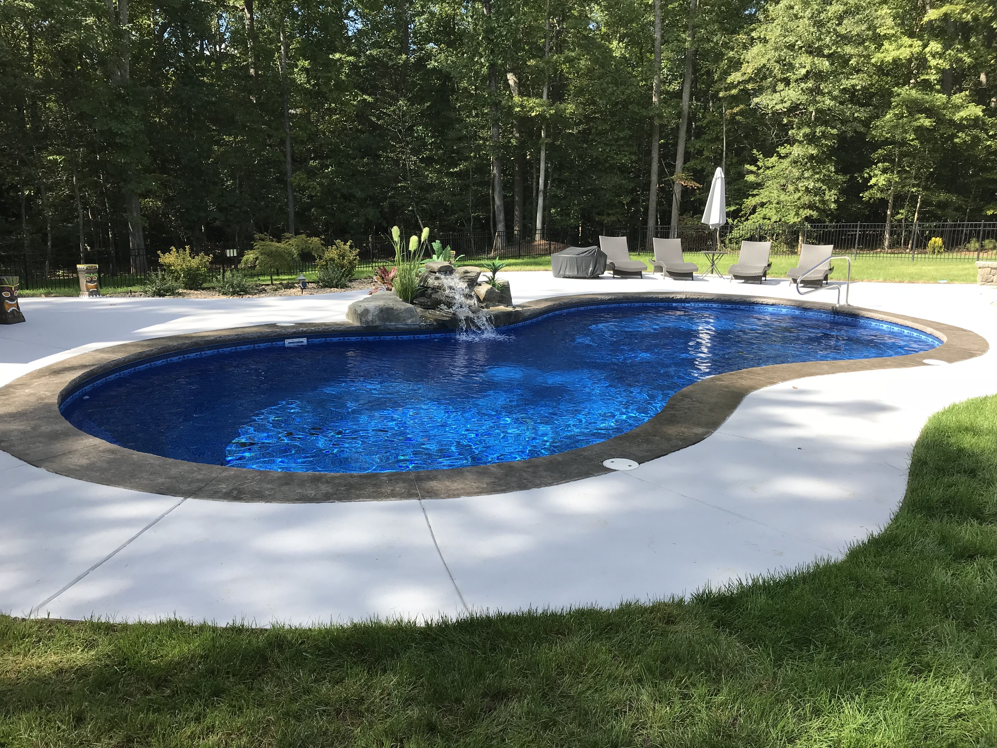 A Picture Of A Freedom Lake Right Inground Swimming Pool