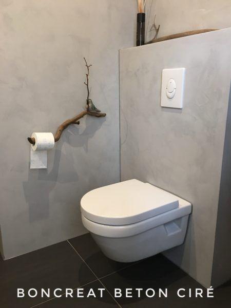 Boncreat Beton Cire By Boncreations Toilet Ontwerp Toilet Verbouwing Badkamer Beton Cire