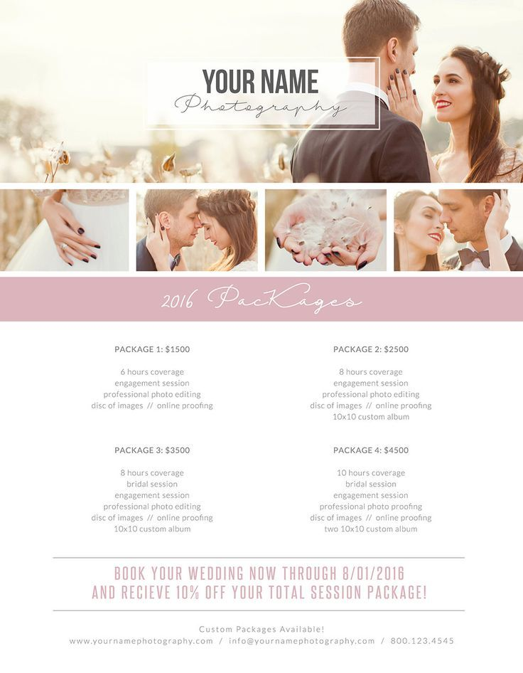 Photography package template