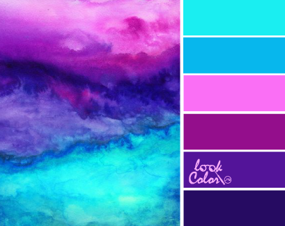 Color Schemes Inspiration So Pretty Teal And Purple Palette