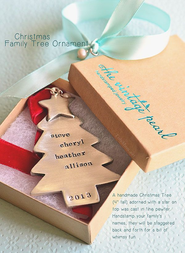 Personalized Christmas Family Tree Ornament from TheVintage Pearl at