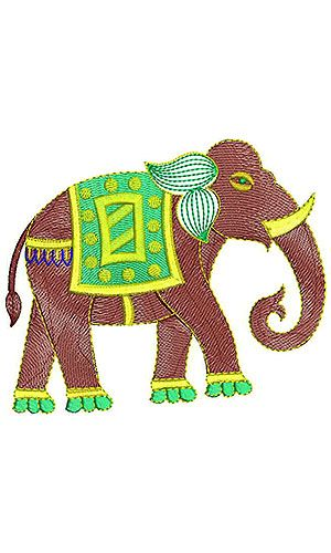 African Elephant Wall Art Embroidery Design Animal Embroidery