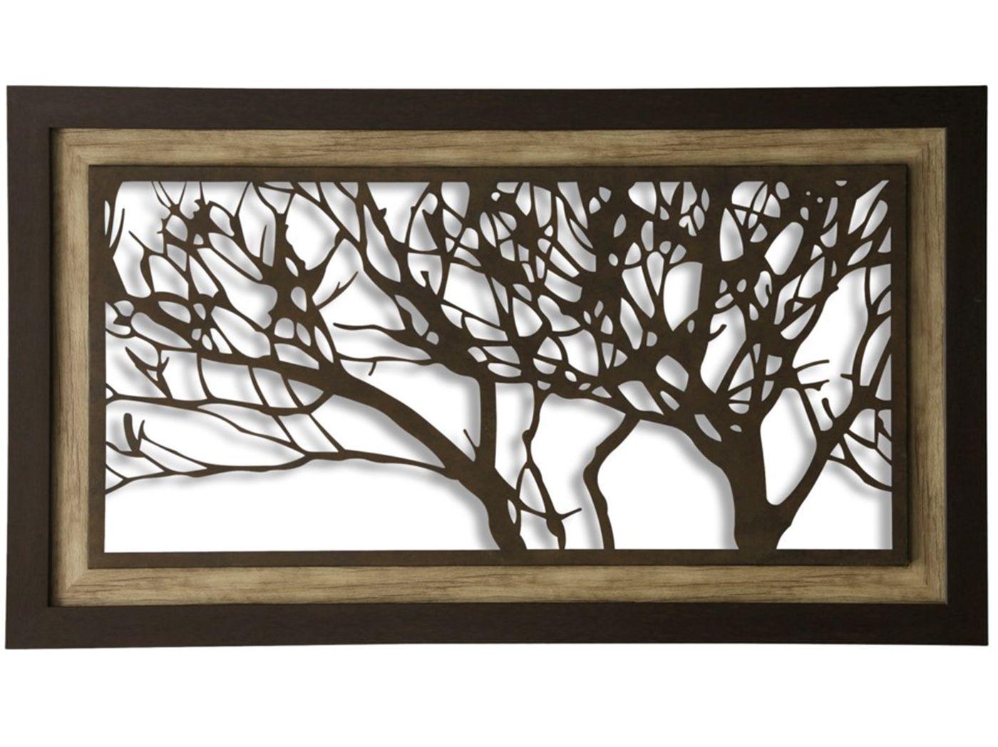 Metal tree wall decor