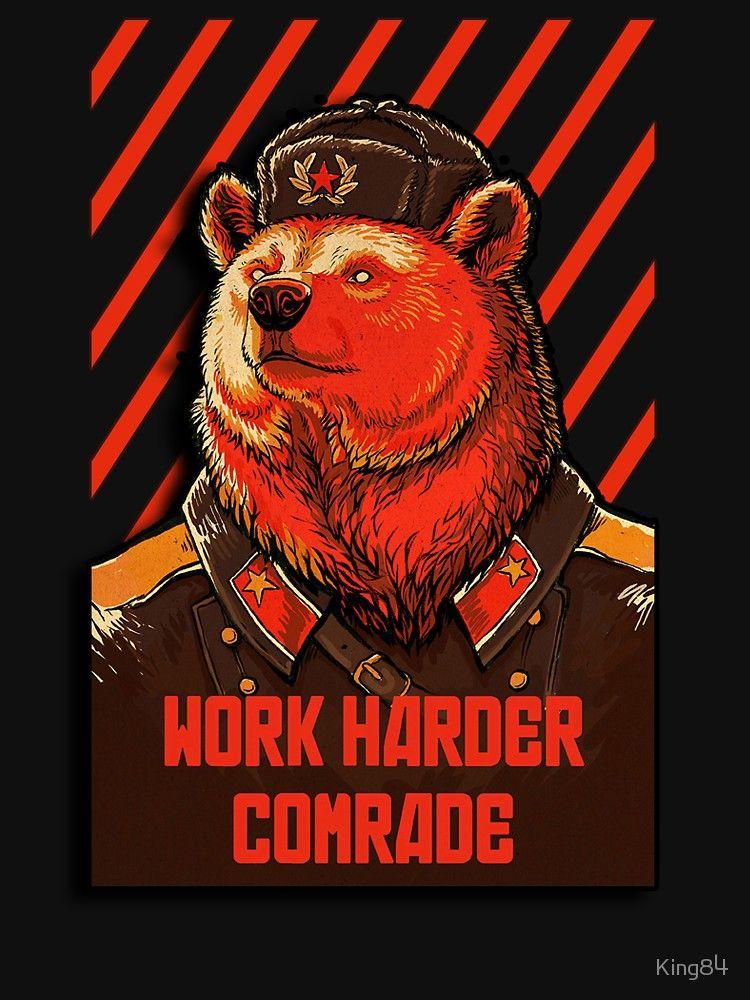 SOVIET BEAR WORK HARDER COMRADE iphone case