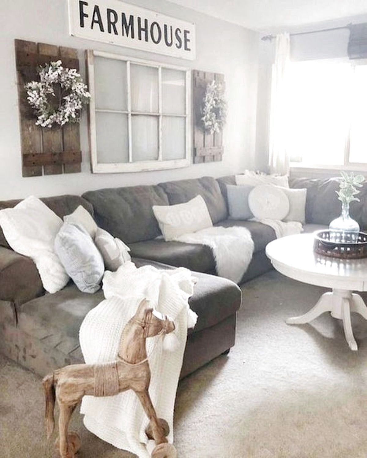 101 Best Farmhouse Living Room Decoration Ideas Room Wall Decor