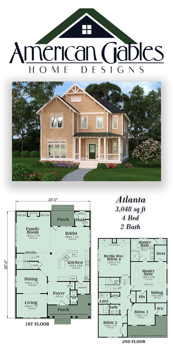 Craftsman Plan 3048 Square Feet 4 Bedrooms 2 Bathrooms Atlanta House Blueprints House Layouts Craftsman House Plan