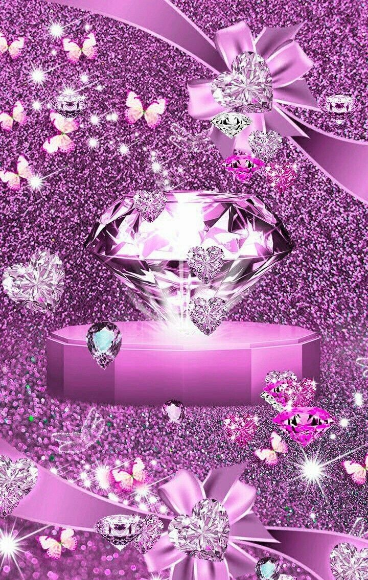 Pin by Annie Miles on Diamond wallpaper | Pink wallpaper ...