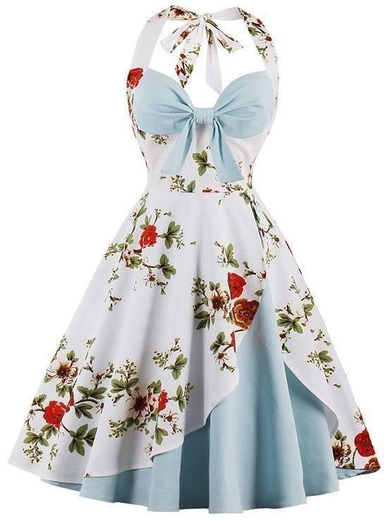 Bredenberg Stockholm Spring Vintage Blue Floral Dress Vintage Dress Floral Dress Cockail Dress 1960s Dress Party Dress Summer Dress