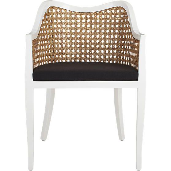Phenomenal Tayabas Cane Side Chair And Black Cushion Furniture Inzonedesignstudio Interior Chair Design Inzonedesignstudiocom