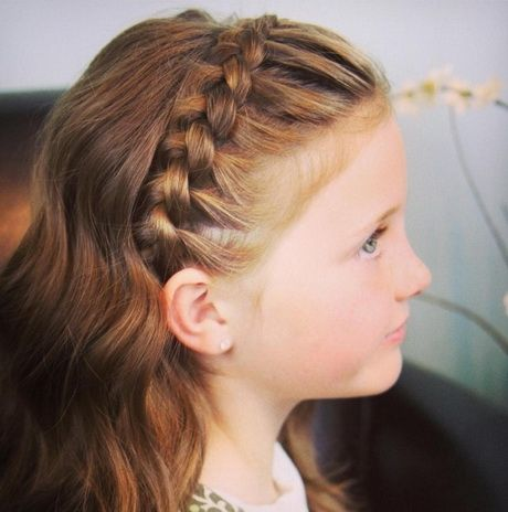 Flechtfrisuren mädchen | Nevaeh | Hairstyles for school ...