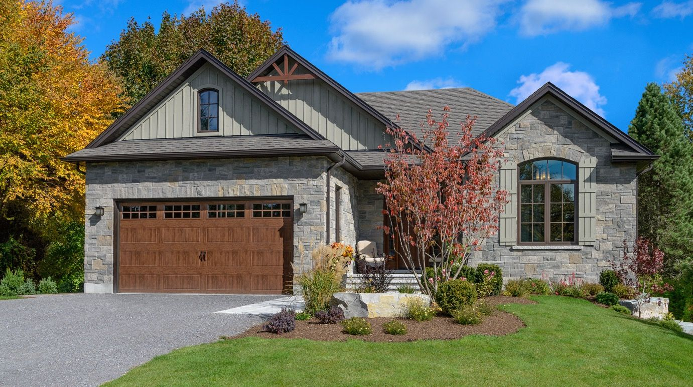 A Clopay Gallery Collection Steel Garage Door With A Faux