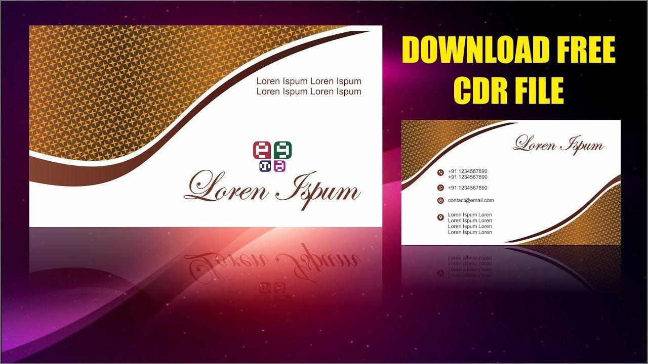 Visiting Card Design Cdtfb Corel Draw In Hindi Urdu Visiting Card Design Visiting Cards Free Business Card Design