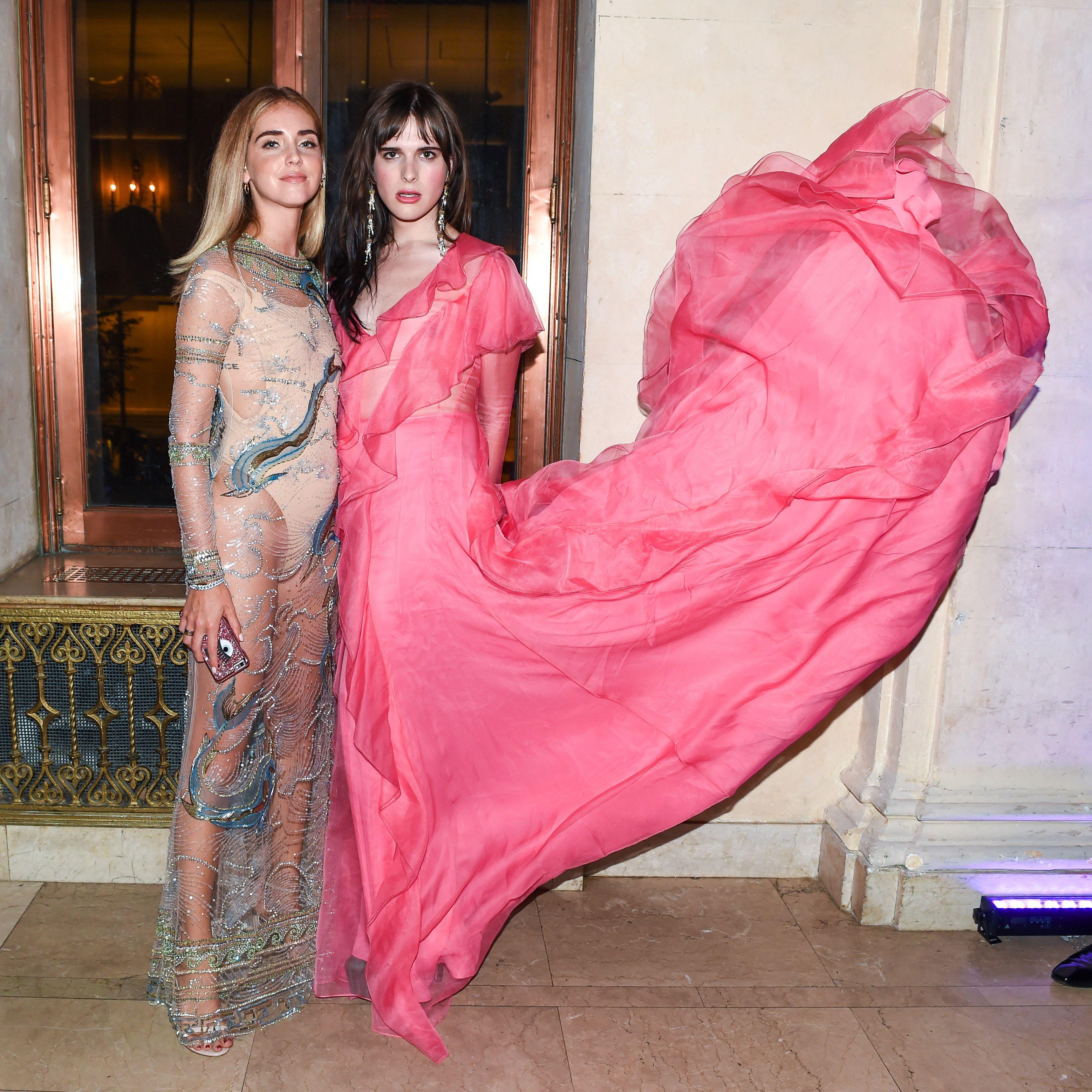 8d91e1644 Chiara Ferragni in Roberto Cavalli and Hari Nef in Gucci - Harper's BAZAAR  Celebrates Icons by