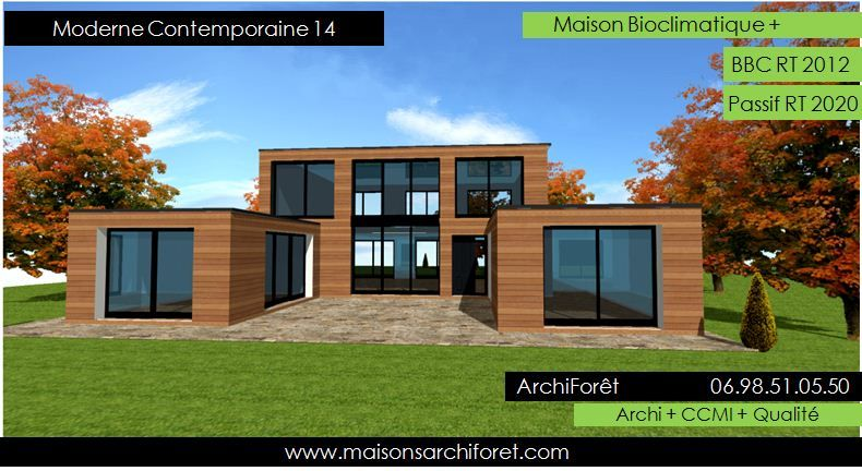 maison toit plat avec patio en U Plans Pinterest Swiming pool