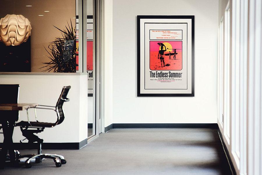 Vintage Wall Decor Inspirations Framed Poster Vintage Poster With John Van Hamersveld Artwork Inspired By The Endless Summer