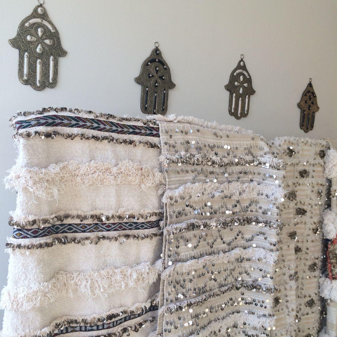 Handira wedding blankett beautiful decoraci n marroqu camas y dormitorios - Casas marroquies ...