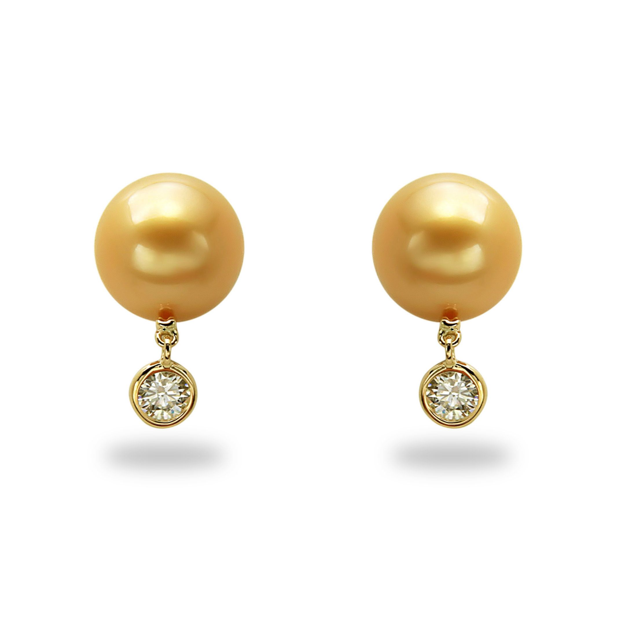 yellow products gold pearls earrings villa kent pearl jewellery and image stud rosie