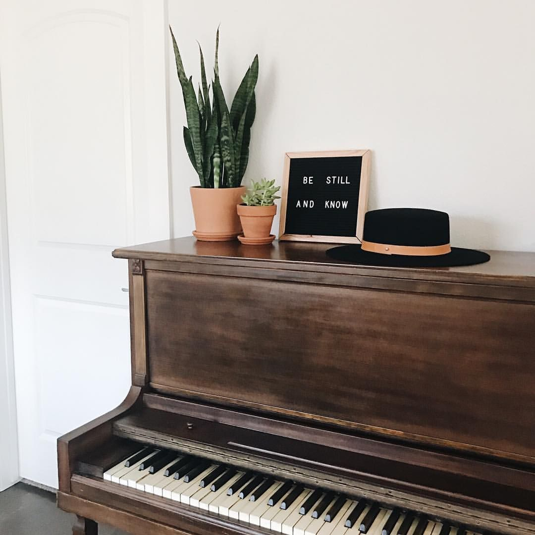 100 Likes, 4 Comments - MACE LARSON (@mace_larson) on Instagram piano, indoor plants, letterboard