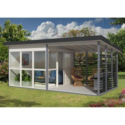 Abri de jardin design 1590m² avec véranda et plancher, 21mm
