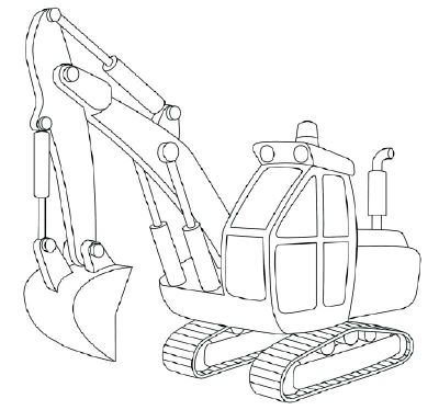 How To Draw Excavators In 11 Steps Colorbook Pinterest