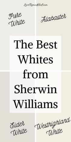 The Best White Paint Colors from Sherwin Williams - Love Remodeled