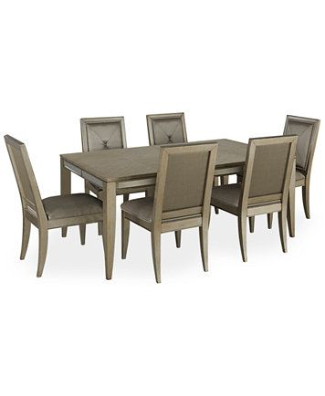 Ailey Dining Room Furniture 7 Piece Set Dining Table And 6 Side Chairs Macys Com Dining Room Furniture Dining Room Furniture Sets Furniture