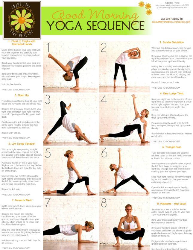 Good Morning Yoga Easy Yoga Workouts Morning Yoga Sequences Morning Yoga