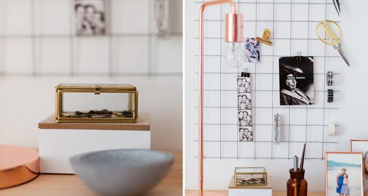 DIY Wand Organizer Für Mehr Ordnung Am Schreibtisch #DIY #Selbermachen  #Organizer #