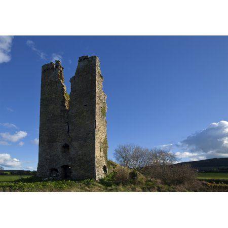 clonea castle near clonea county waterford ireland canvas art ...