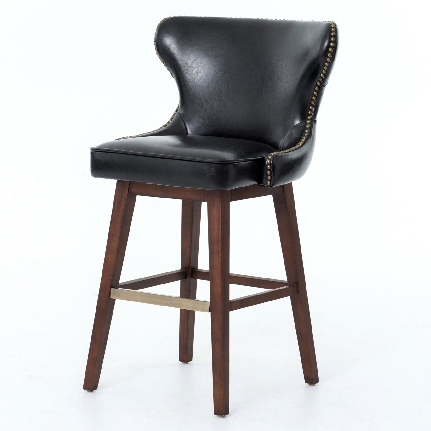 Surprising Four Hands Julie 26 In Swivel Counter Stool Black Clin Squirreltailoven Fun Painted Chair Ideas Images Squirreltailovenorg
