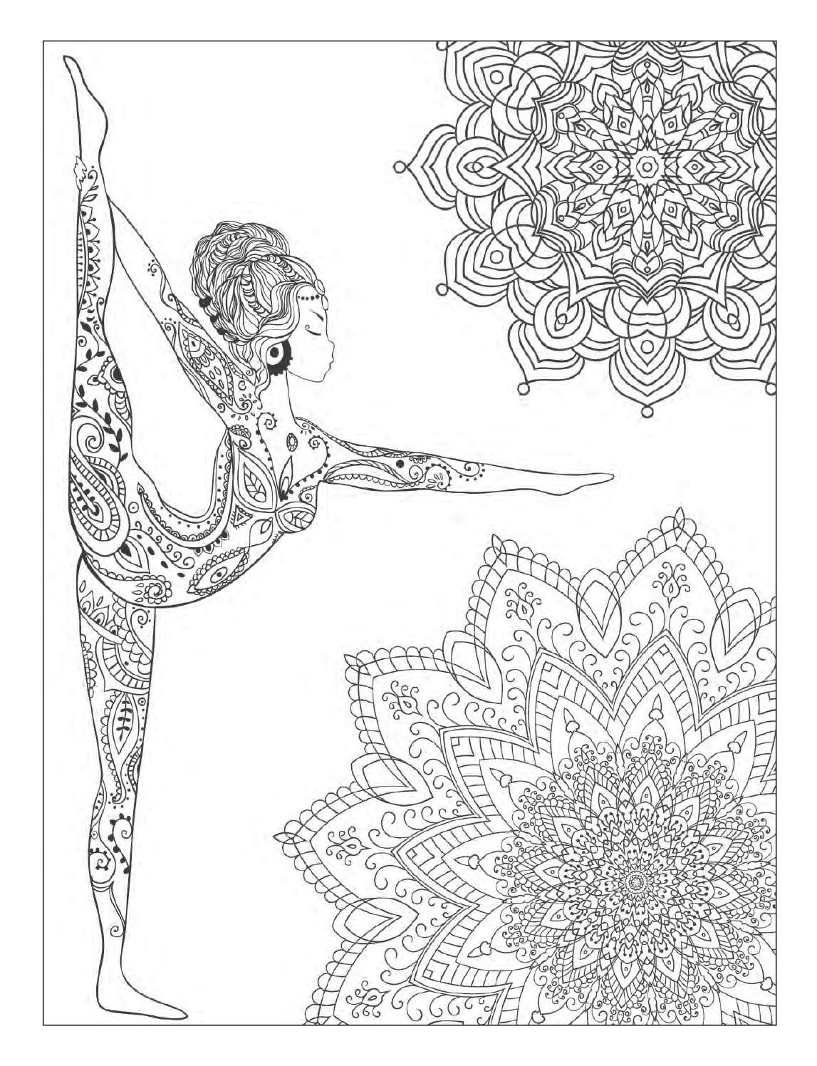 Yoga And Meditation Coloring Book For Adults With Yoga Poses And Mandalas Mandala Coloring Pages Mandala Coloring Designs Coloring Books