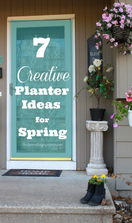 7 Creative Flower Planter Ideas for Spring | Household items ...