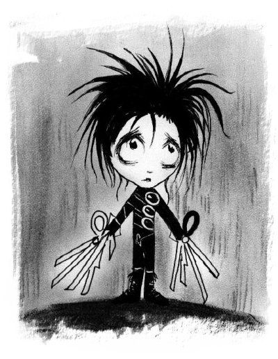 Edward Scissorhands Cartoon Art Edward Scissorhands Edward Scissor
