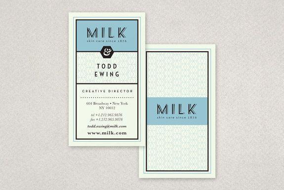 Milk - Business Card Design Inspiration | Card Nerd